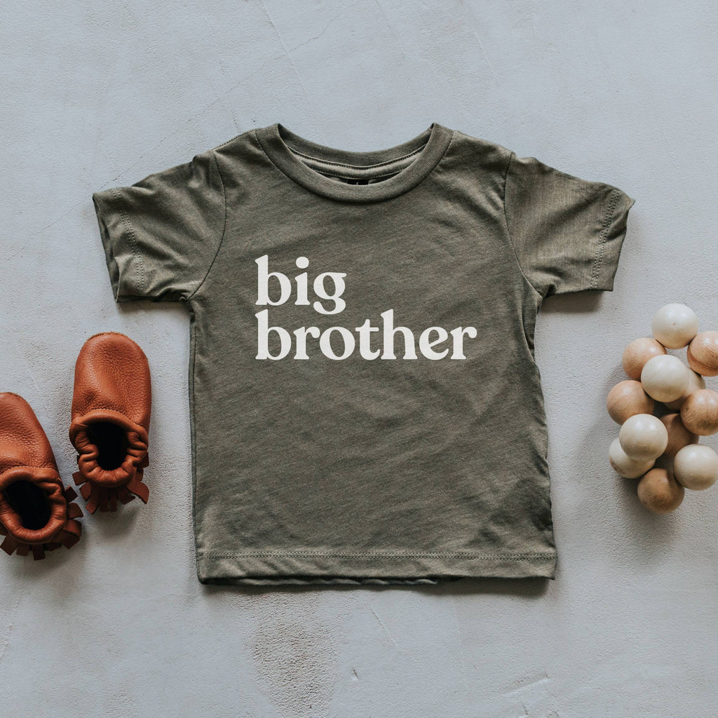 Gladfolk - Olive Big Brother Kids Tee