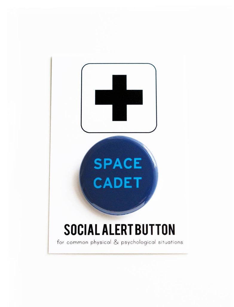 SPACE CADET pinback button