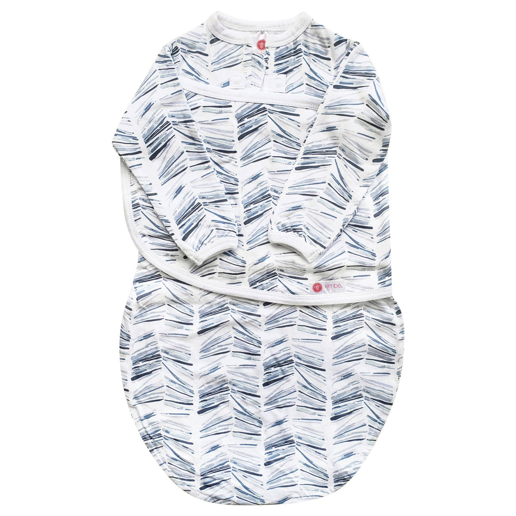 embe - Angle Stripe | Starter Swaddle with Long Sleeves