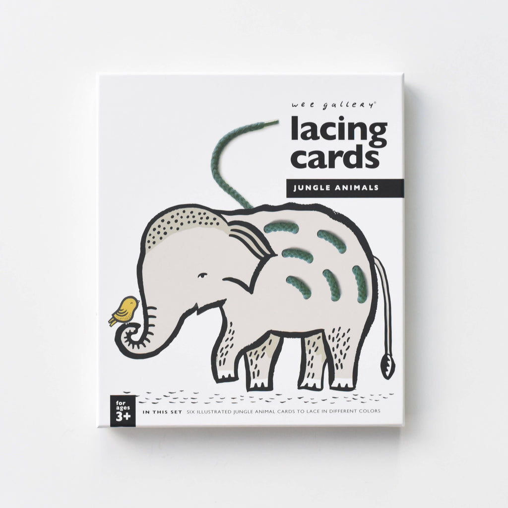 Wee Gallery - Lacing Cards - Jungle Animals