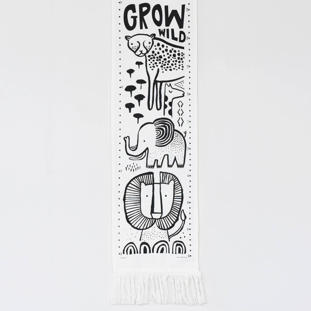Wee Gallery - Safari Canvas Growth Chart