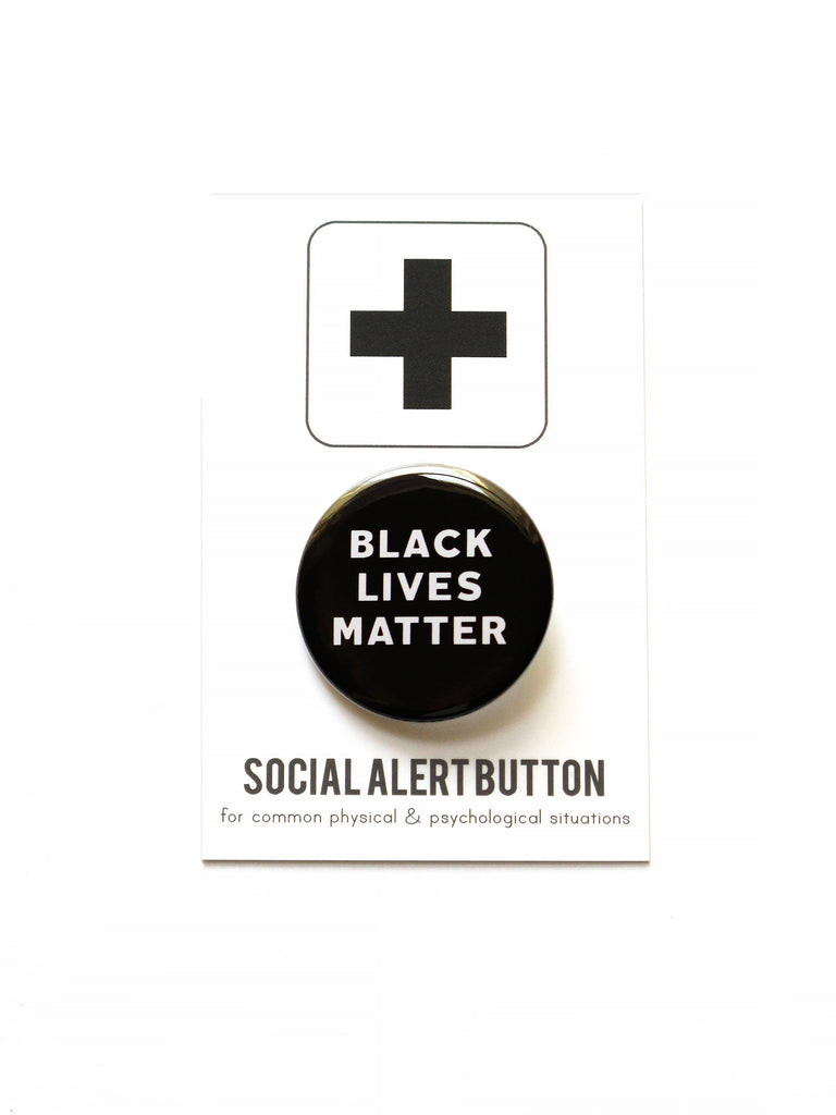 BLACK LIVES MATTER BLM pinback button