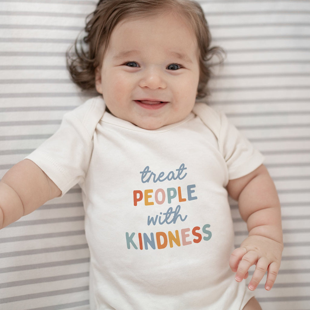 finn + emma graphic bodysuit | treat people with kindness
