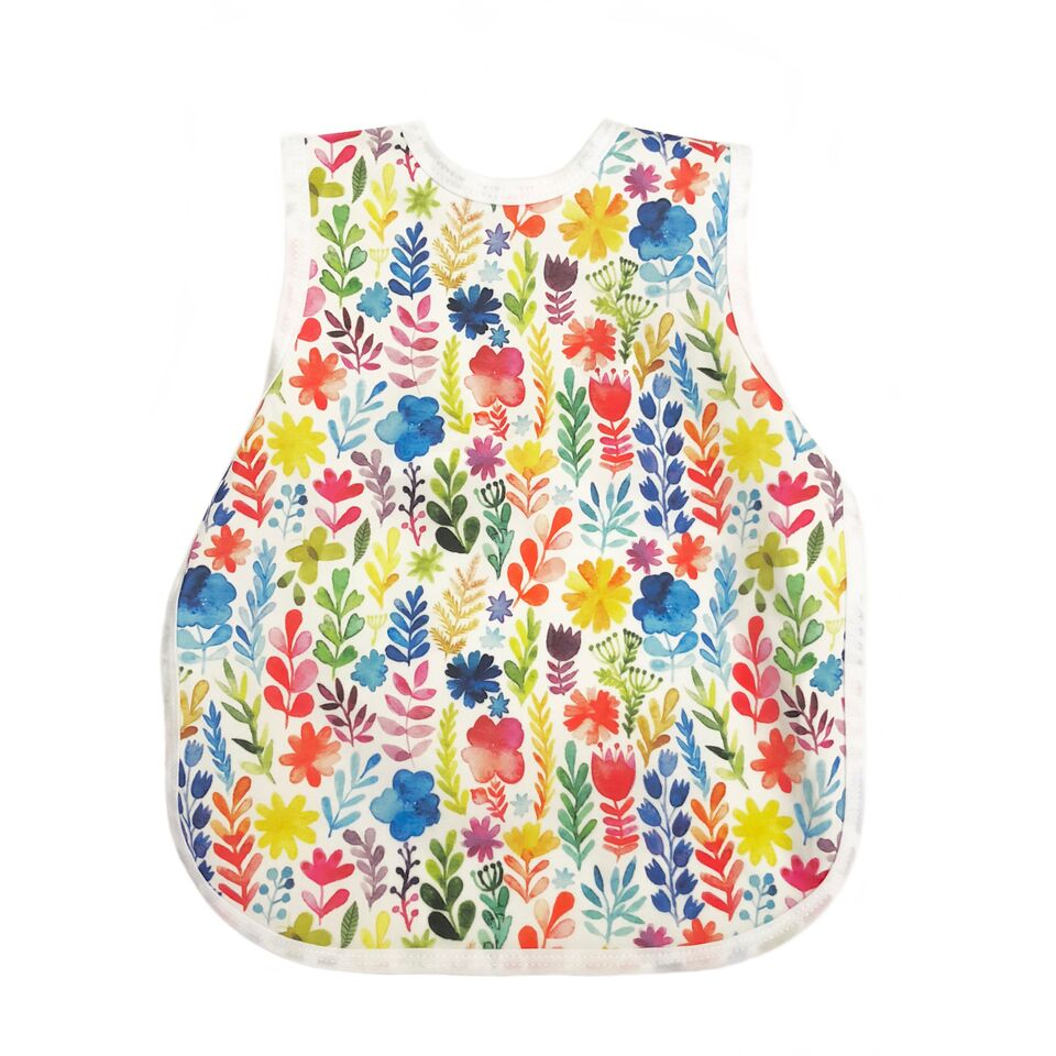 BapronBaby - Rainbow Watercolor Floral Toddler Bapron