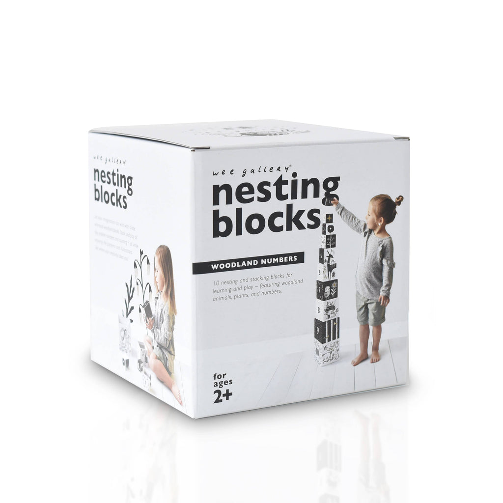 Wee Gallery - Nesting Blocks - Woodland Numbers