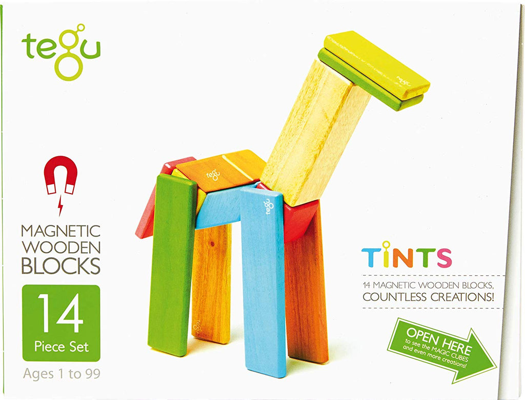 Tegu 14-Piece Tints Wooden Block Set