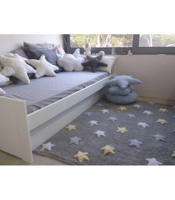 Lorena Canals Tricolor Stars Rug