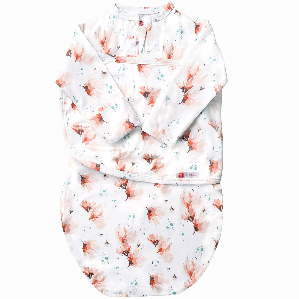 embe - Blush Blossom | Starter Swaddle with Long Sleeves