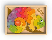 Begin Again Toys Bilingual Counting Chameleon Puzzle