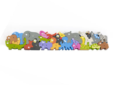 Begin Again Jumbo Animal Parade A to Z Puzzle