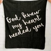 Modern Burlap - God Knew my heart needed you | Black
