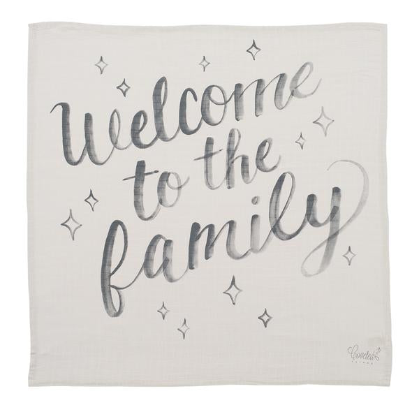 Coveted Welcome to the Family Organic Swaddle