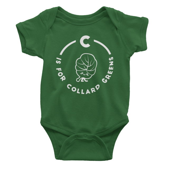 Southern Alphabet Series Onesies C is for Collard Greens