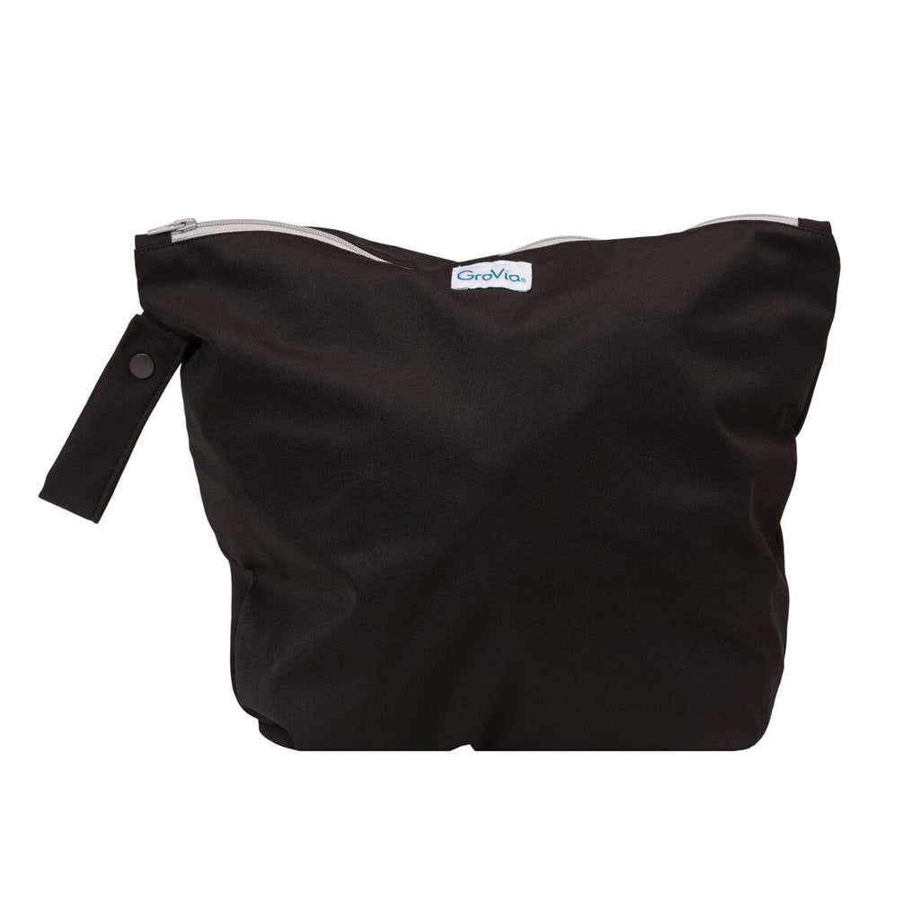 GroVia | Cloth Diapers, Wipes, & Accessories - Zippered Wetbag - Jet