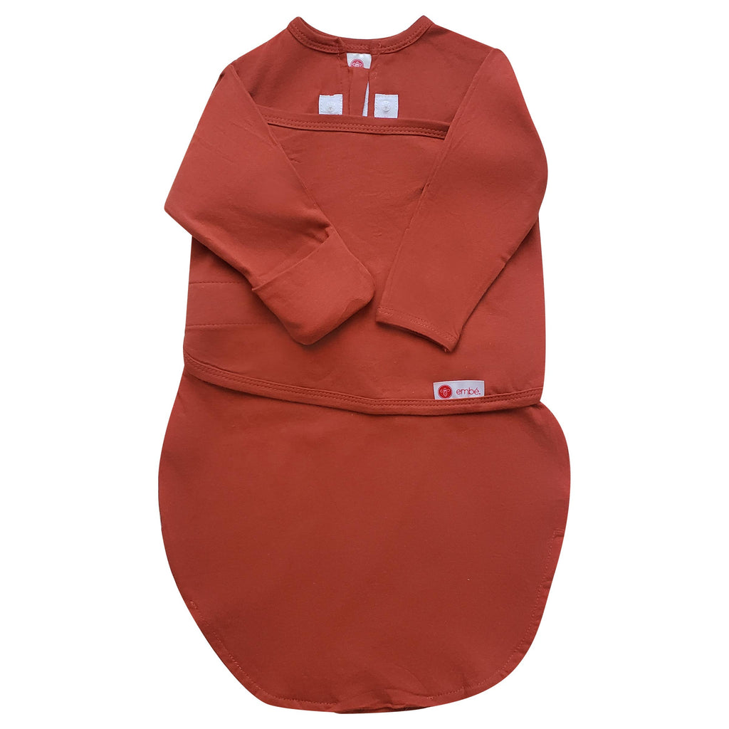 embe - Rust | Starter Swaddle with Long Sleeves