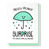 Kiss and Punch Babyshower Suprise card
