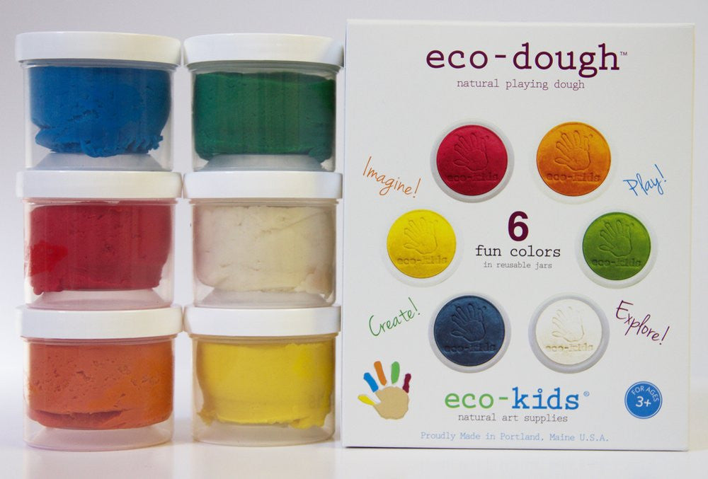 Ecokids Non-Toxic Eco-Dough 6 pack