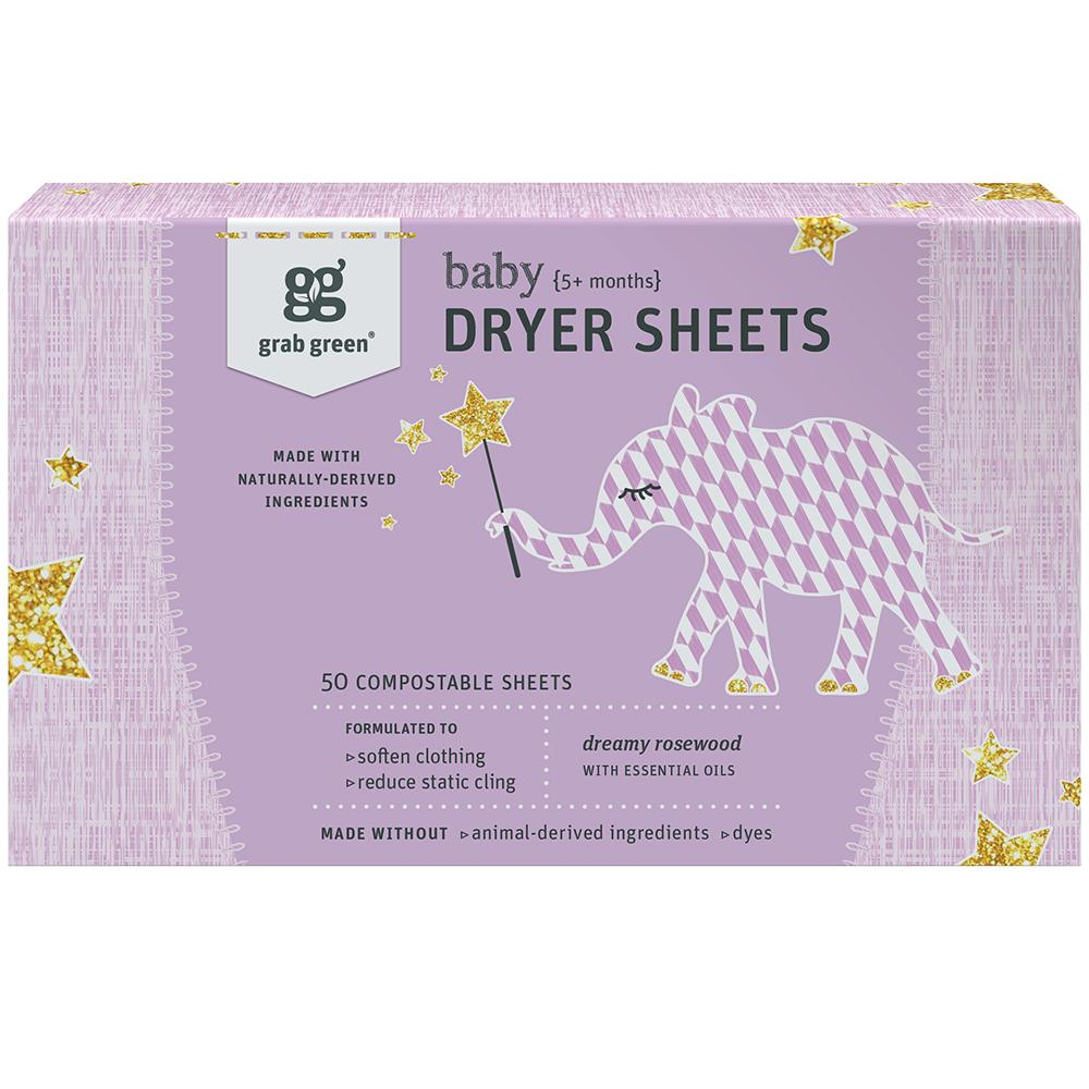 Grab Green Baby Dryer Sheets 5 months +