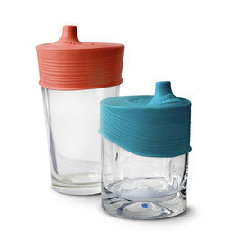 GoSili - Stretchy Silicone Lids with Sippy Spout 2pk
