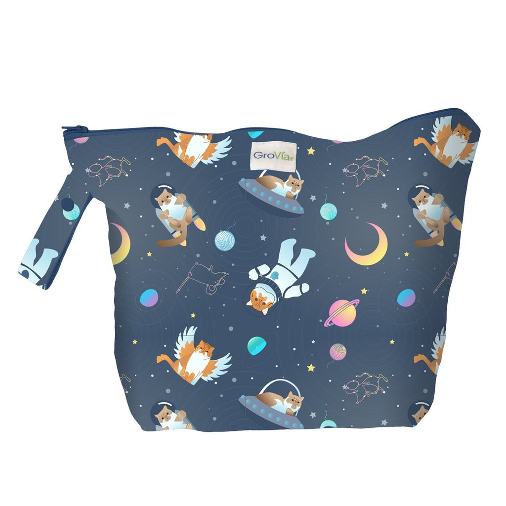 GroVia Zippered Wetbag | All Good Cats Go To Space