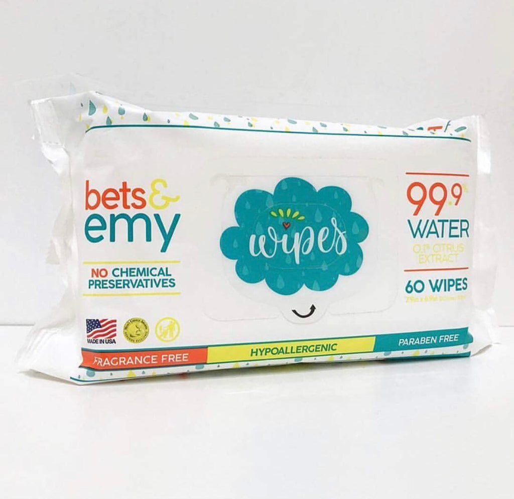 Bets & Emy Water Wipes -12pk CASE