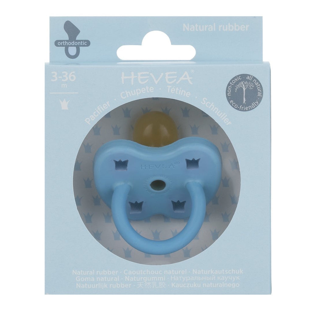 Hevea Skye Blue Orthodontic Pacifier (3-36m)