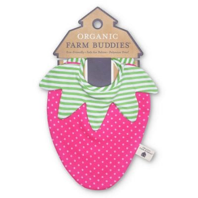 Apple Park Organic Farm Buddies Strawberry bib