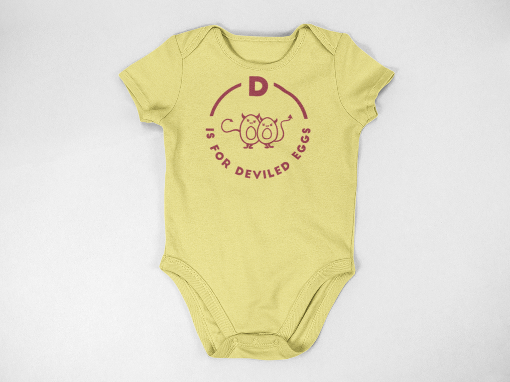 Southern Alphabet Series Onesies D is for Deviled Eggs