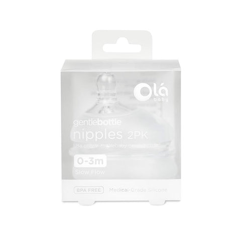 Olababy Gentle Bottle Nipple - 2pk