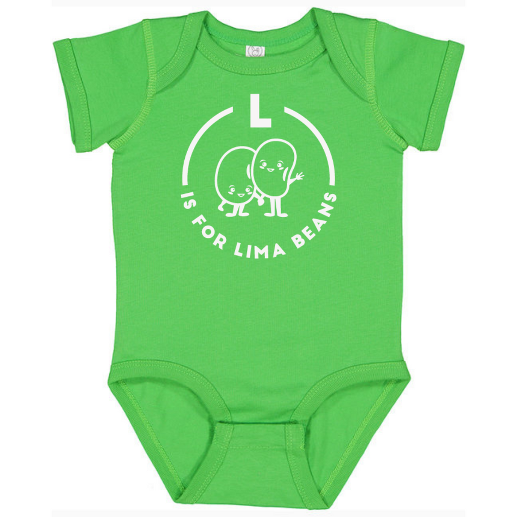 Southern Alphabet Series Onesies L is for Lima Beans