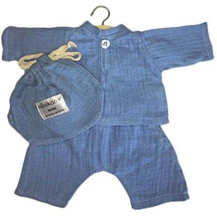 Minikane Mao Cotton Double Gauze Set Bleu Artic