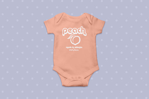 Atlanta Peach Onesie
