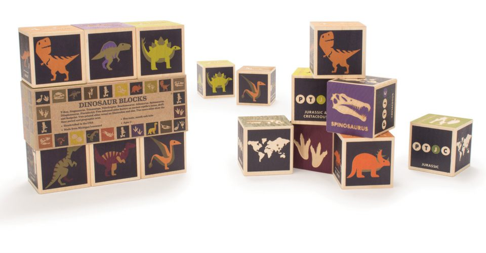 Uncle Goose Dinosaur Blocks