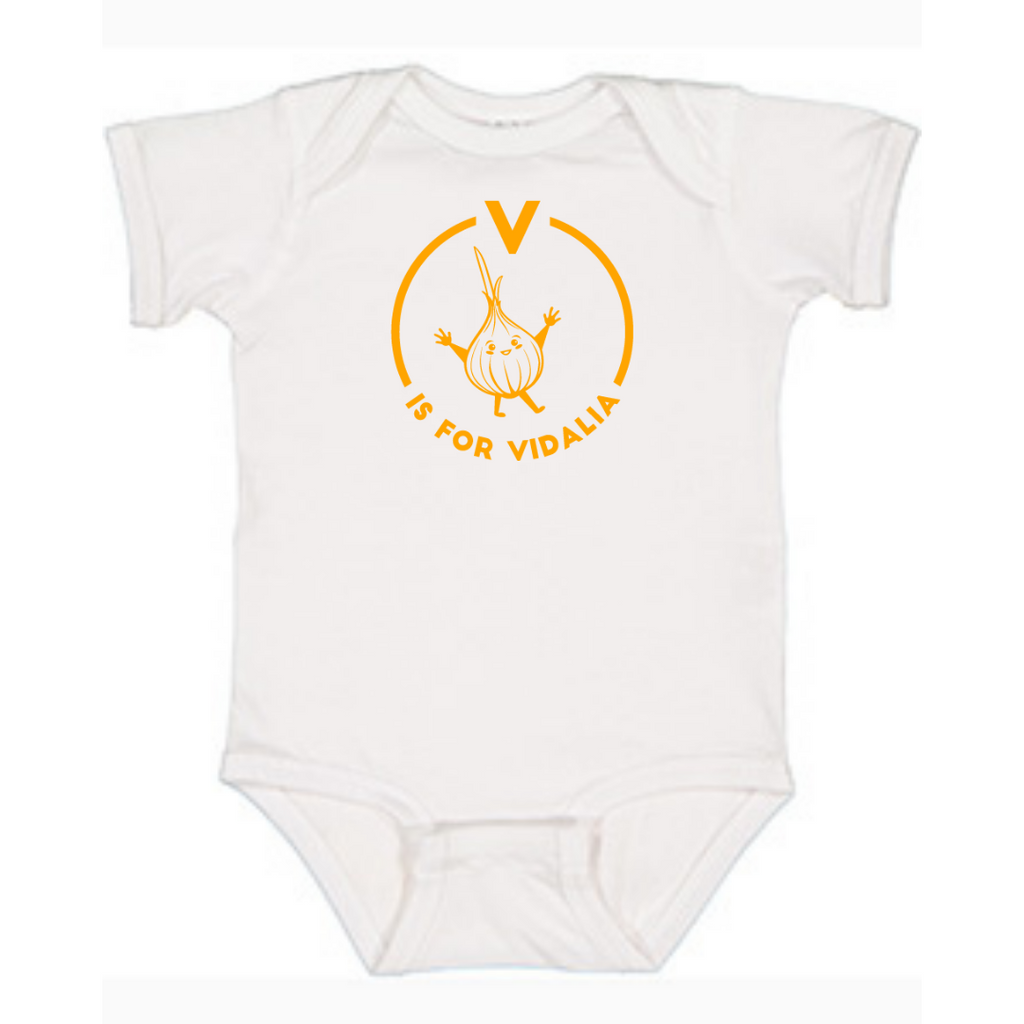 Southern Alphabet Series Onesies V if for Vidalia