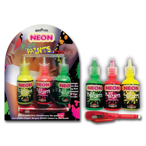 NEON BODY PAINTS 3 PACK CARD