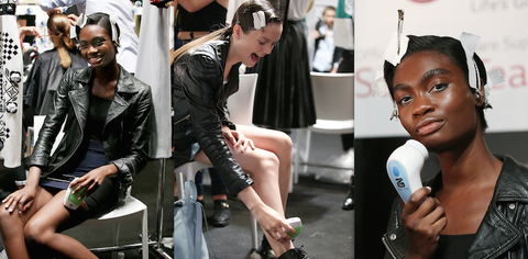 Silk'n Sonic Cleanse at New York and London Fashion Week