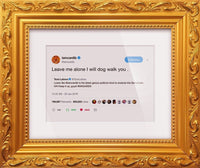 "Cardi B - ""I Will Dog Walk You""-Framed Tweets"