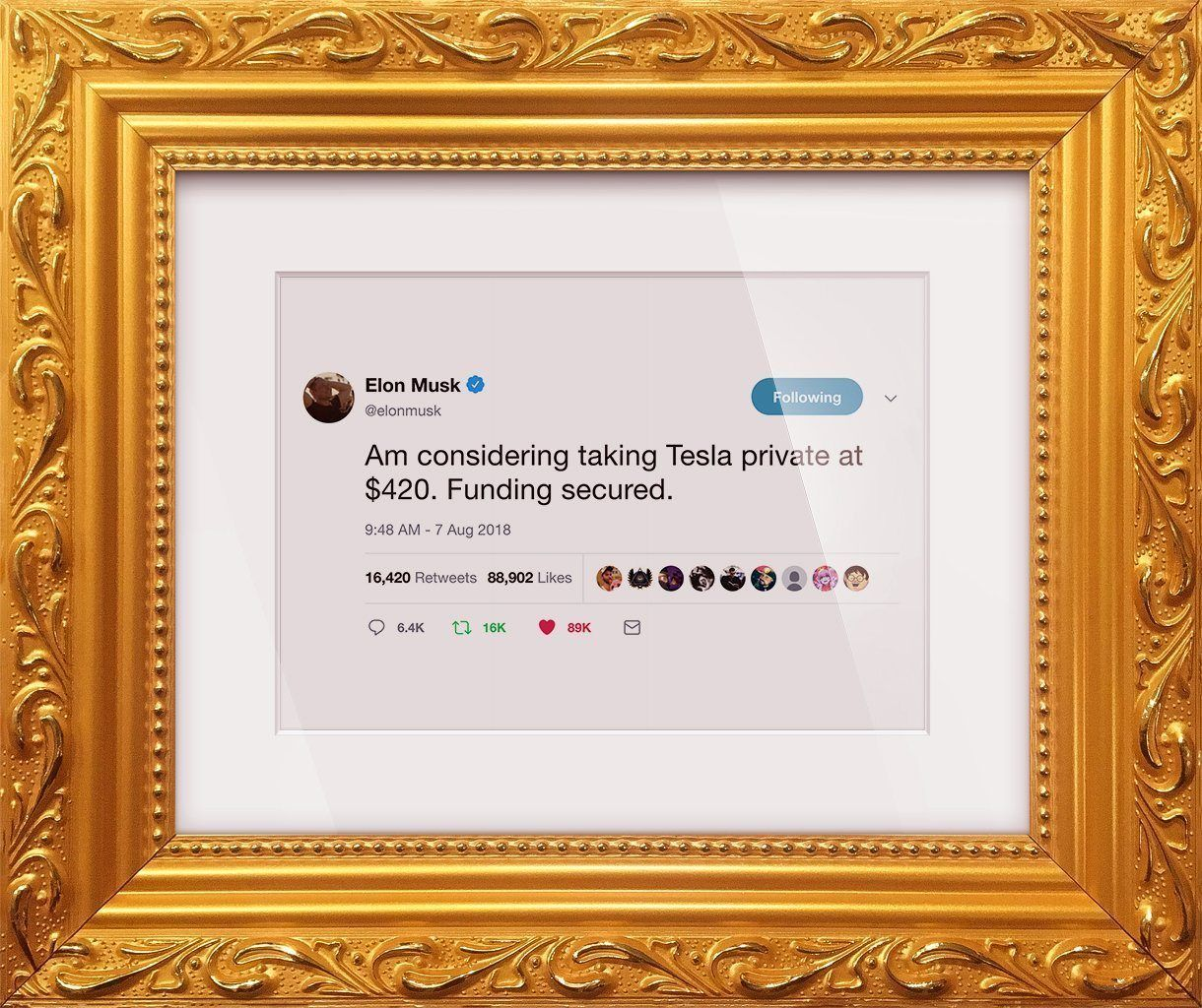 "Elon Musk - ""Tesla Private At $420"""