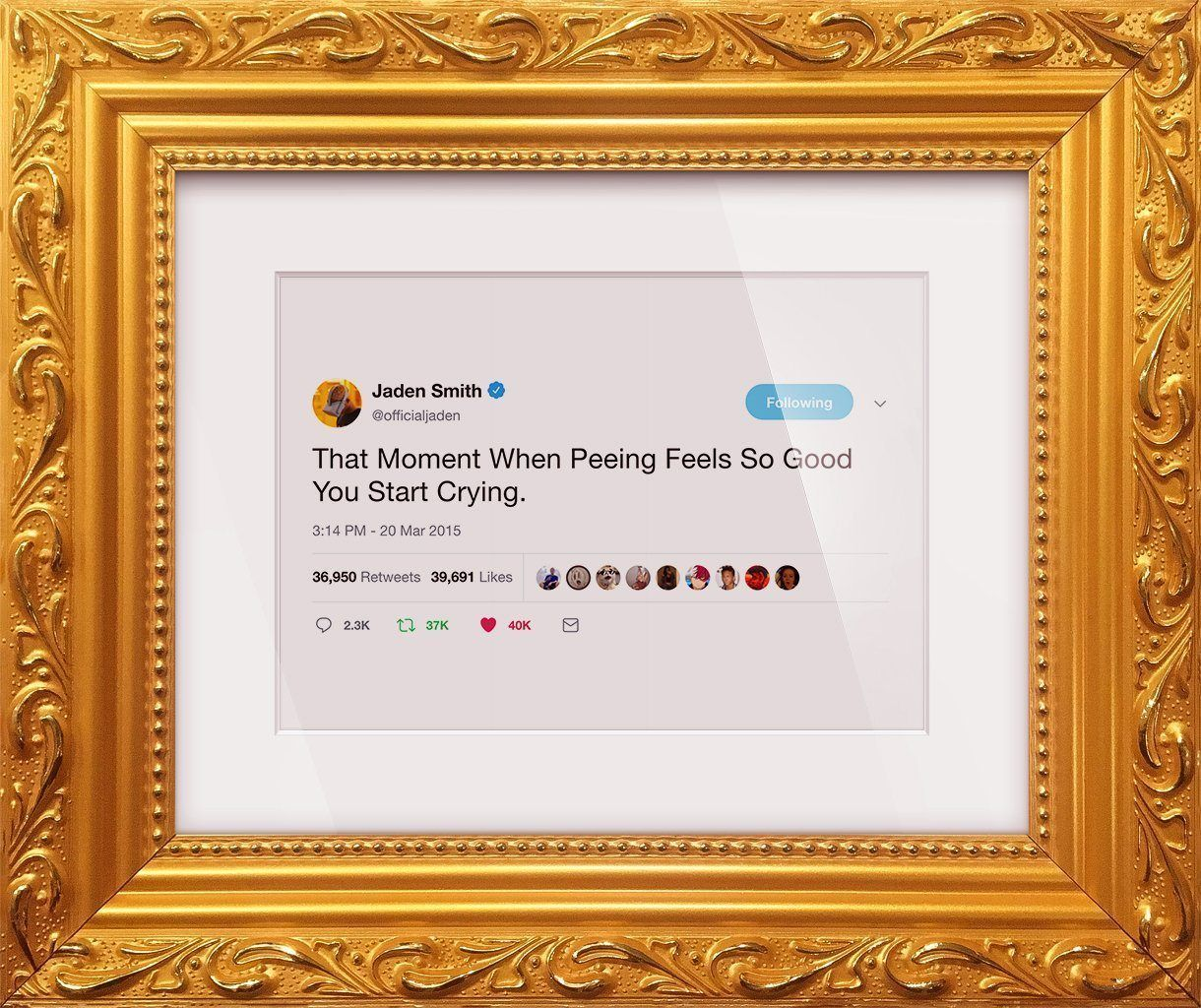 "Jaden Smith - ""That Moment When""-Framed Tweets"