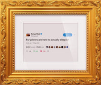 "Kanye West - ""Fur Pillows""-Framed Tweets"