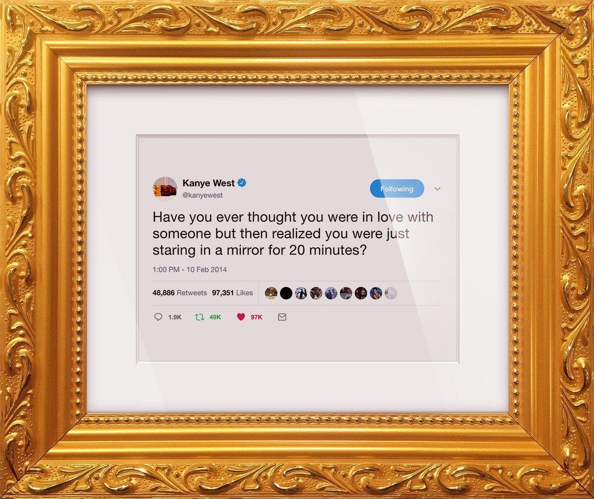 "Kanye West - ""Mirror""-Framed Tweets"