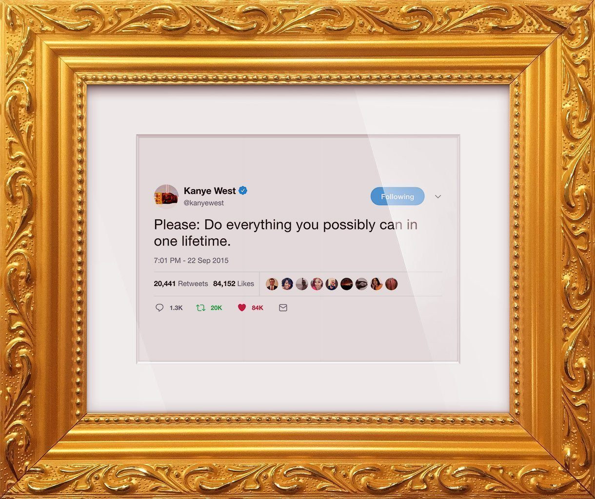 "Kanye West - ""Please""-Framed Tweets"