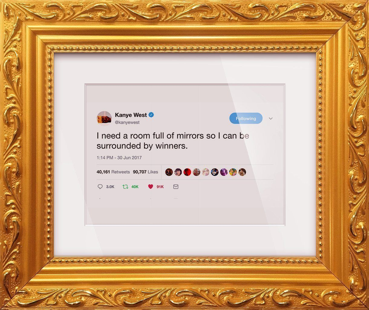 "Kanye West - ""Surrounded By Winners""-Framed Tweets"