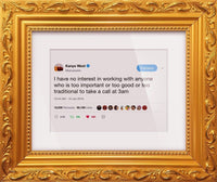"Kanye West - ""3am""-Framed Tweets"