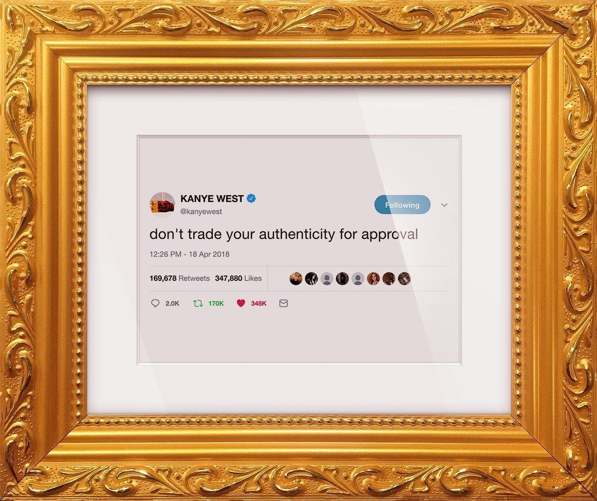 "Kanye West - ""Authenticity""-Framed Tweets"