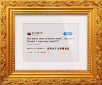 "Kanye West - ""Fashion Week""-Framed Tweets"
