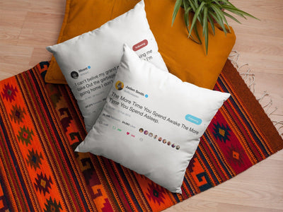 Tweet Throw Pillow-Framed Tweets