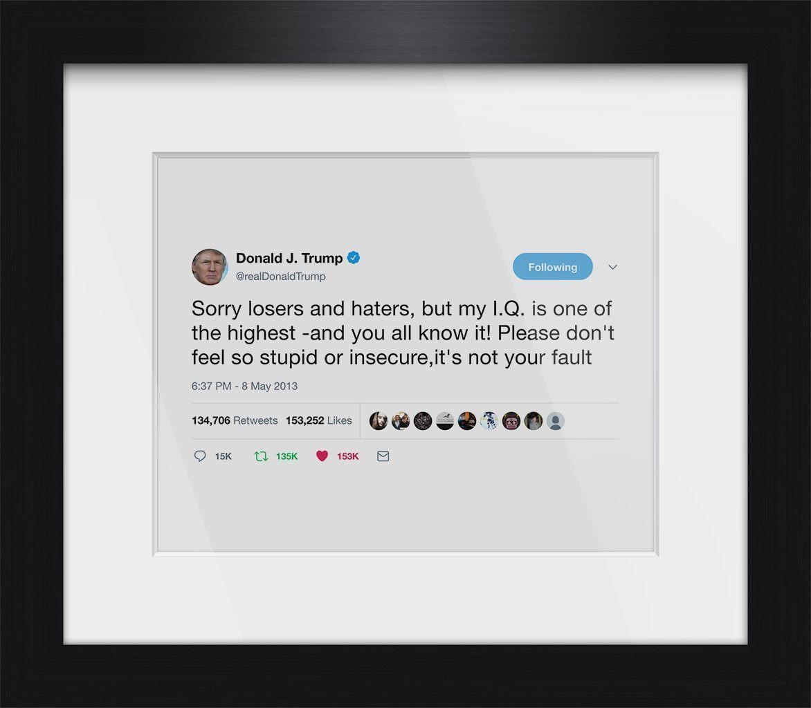 "Donald Trump - ""Sorry Losers""-Framed Tweets"