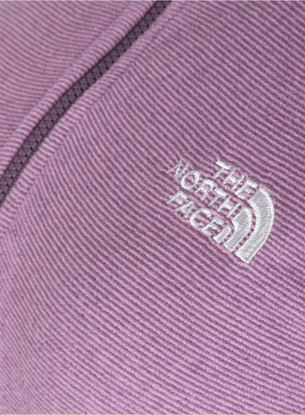 Фліс The North Face 100 Glacier 1/4 Zip-Lady NE - black plum stripe