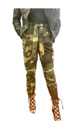 Load image into Gallery viewer, Camo cargo pants